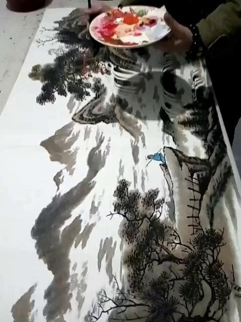 卢靖老师国画作品创作