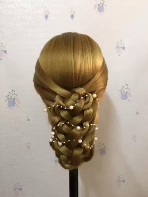 新娘发型,宝宝们收教