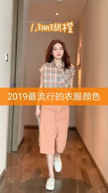 2019最流行的衣服颜色 ps:衣服都在我的橱窗里面时尚好物大赏 快手特卖节 穿搭无水印高清快手网页版
